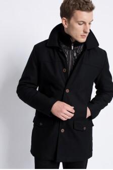 Paltoane negre barbatesti elegante