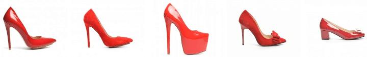 Pantofi rosii dama ieftini
