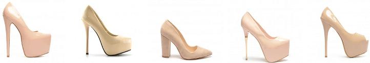 Modele pantofi bej de dama