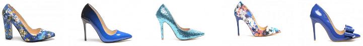Pantofi dama albastri la moda