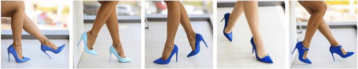 Pantofi dama stiletto albastri