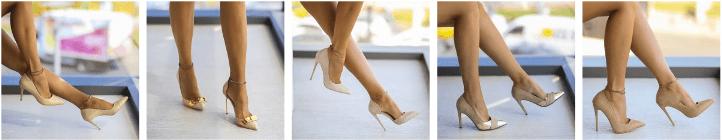 Pantofi dama stiletto bej