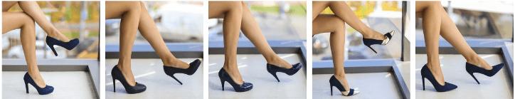 Pantofi dama stiletto bleumarin