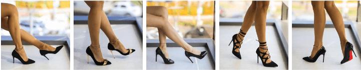 Pantofi dama stiletto negri