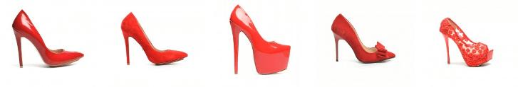 Pantofi dama stiletto rosii