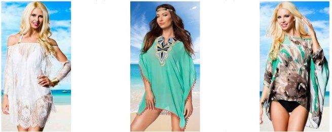 Tunici de plaja ieftine