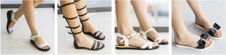 Sandale de vara fara toc